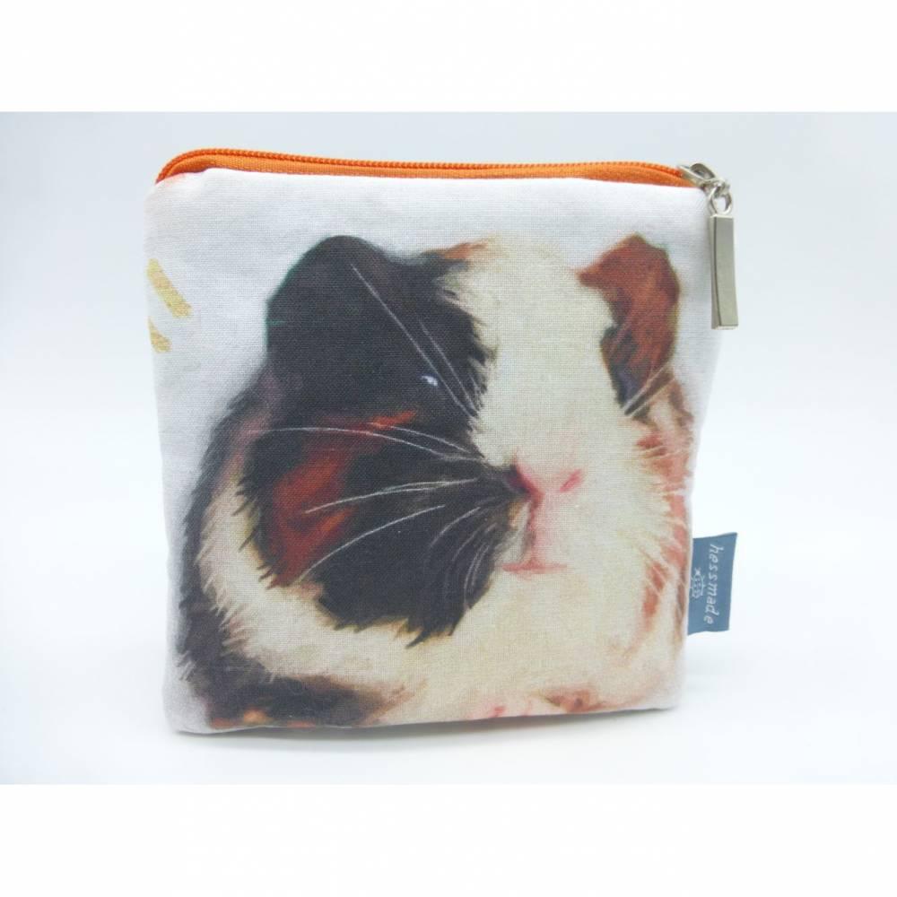 Etui Meerschweinchen, Guinea Pig, Glatthaarmeerie, Geldbörse, kleine Tasche, Unikat hessmade Bild 1