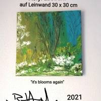 Acryl Gemälde abstrakt 30x30cm Bild 2