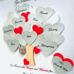 Silberhochzeit Geschenk, Hochzeitsgeschenk, 25.Jahrestag,Bilderrahmen mit Daten,personalisiert Bild 2