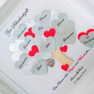 Silberhochzeit Geschenk, Hochzeitsgeschenk, 25.Jahrestag,Bilderrahmen mit Daten,personalisiert Bild 3