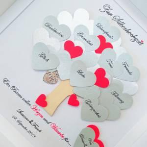 Silberhochzeit Geschenk, Hochzeitsgeschenk, 25.Jahrestag,Bilderrahmen mit Daten,personalisiert Bild 4