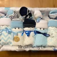 Windeltorte für Junge: Windelbabys, Geschenk zur Geburt, liebevoll gestaltetes Babygeschenk Bild 3