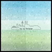 Digipapier Set #30 (himmelblau und grasgrün) zum ausdrucken, plotten, scrappen, basteln und mehr Bild 3