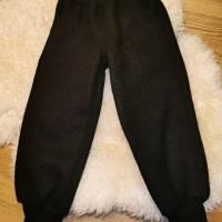 Walkhose, Wollwalk, schwarz, mit Taschen, Schurwolle, mulesingfrei, Überhose, Gr. 110 Bild 1