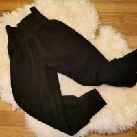 Walkhose, Wollwalk, schwarz, mit Taschen, Schurwolle, mulesingfrei, Überhose, Gr. 110 Bild 2