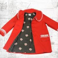 Kindermantel Sarah Gr. 80-140 Nähanleitung + Papierschnittmuster - Kindermantel mit Bubikragen - Cordmantel Bild 1