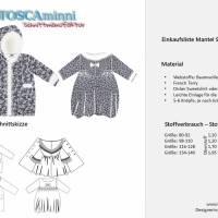 Kindermantel Sarah Gr. 80-140 Nähanleitung + Papierschnittmuster - Kindermantel mit Bubikragen - Cordmantel Bild 10