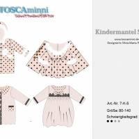 Kindermantel Sarah Gr. 80-140 Nähanleitung + Papierschnittmuster - Kindermantel mit Bubikragen - Cordmantel Bild 9