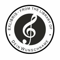 """Exlibris Stempel - Ex Libris Stempel - Exlibris Stempel Musik """"from the Library of...."""" No.exl-10415 Bild 2"""