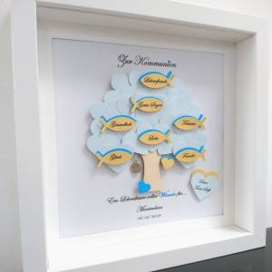 Geschenk Kommunion, Konfirmationsgeschenk, Junge, Patenkind, Lebensbaum, individuelles Geschenk, personalisiert  Bild 2