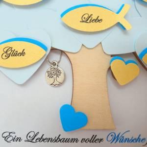 Geschenk Kommunion, Konfirmationsgeschenk, Junge, Patenkind, Lebensbaum, individuelles Geschenk, personalisiert  Bild 5