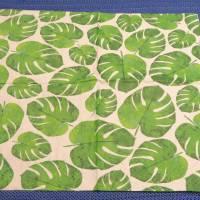 5 Servietten / Motivservietten  grüne Blätter / Grünpflanzen / Monstera  / Leaves  B298 Bild 2
