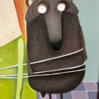 """Acrylbild """"Amrei Stankowiak wurde ein heftiger Bär aufgebunden"""" Gemälde lacaluna Bild 4"""