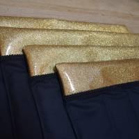 Bandagierunterlagen - 4er Set - Glitzergold - Gr. WB  Bild 1