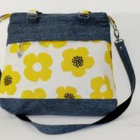 """Handtasche """"Frühlingsliebe"""" aus Baumwolle, Blumen Bild 1"""