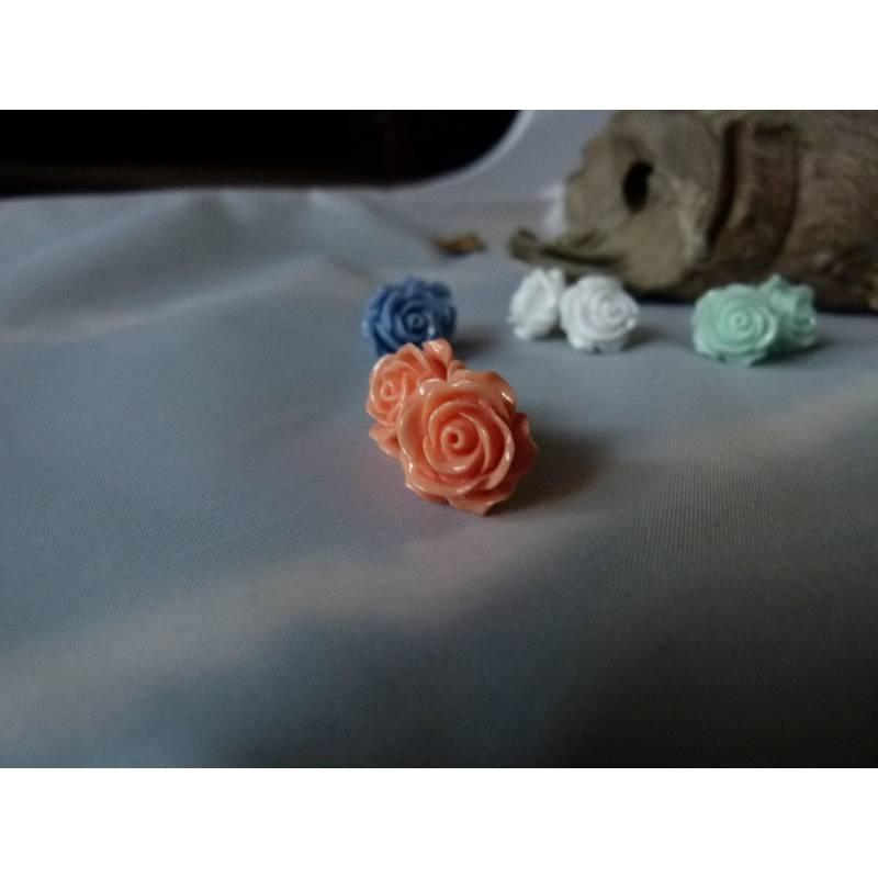 "APRICOT -Vintage Ohrring ""Rose"" Blumen Ohrstecker Bild 1"