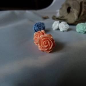 "APRICOT -Vintage Ohrring ""Rose"" Blumen Ohrstecker Bild 3"