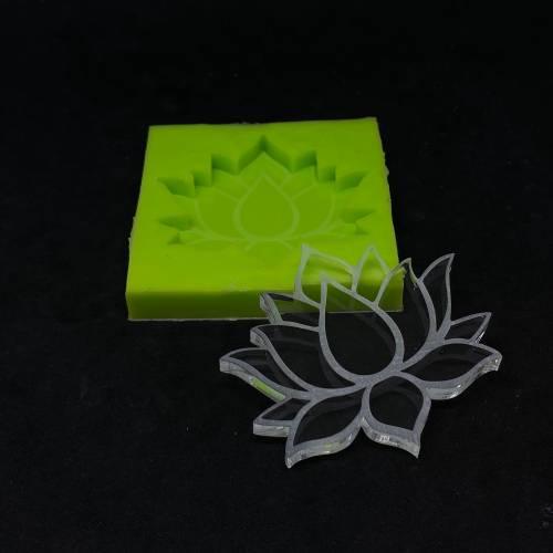 Lotusblüten Untersetzer Silikonform 6-15cm Resin Mold