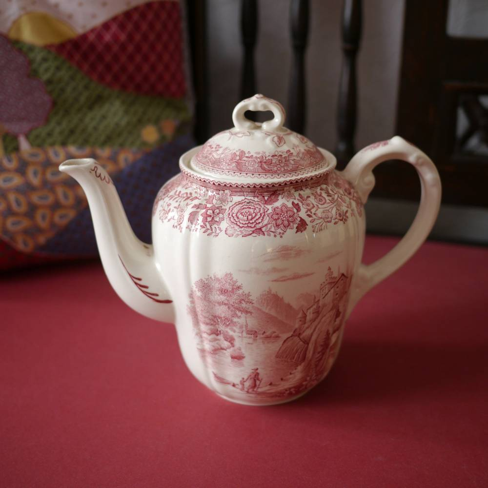 "Vintage Kaffeekanne ""Villeroy & Boch - Burgenland rot"" Bild 1"