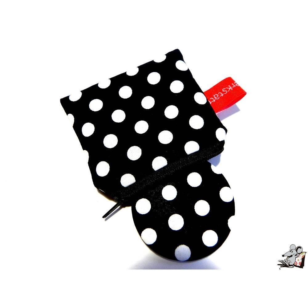 Taschenspiegel-Set *big dots* schwarz Bild 1