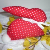 2 kleine süsse Osterhäschen aus Stoff * Osterdeko * Ostergeschenk * Bild 4