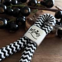 Schlüsselanhänger aus Segeltau Maritim, Schlüsselanhänger mit Text MEINS Bild 1