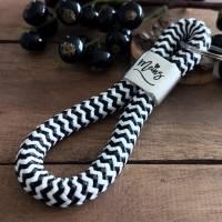 Schlüsselanhänger aus Segeltau Maritim, Schlüsselanhänger mit Text MEINS Bild 2