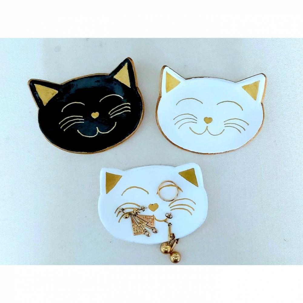 Dekoschale Schmuckschale Ringschale für Katzenliebhaber Bild 1