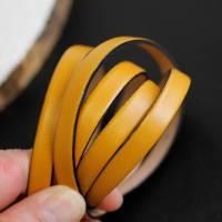 Flaches Lederband, Armband, 10 mm für Schmuckherstellung, hochwertiges Leder - FL102Bor Bild 1