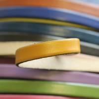Flaches Lederband, Armband, 10 mm für Schmuckherstellung, hochwertiges Leder - FL102Bor Bild 3