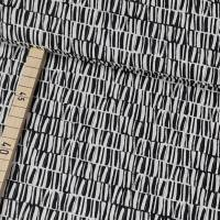 Viskose-Leinen Silas, Muster, schwarz, beige - swafing Bild 1