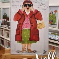 """Selbstgemaltes Nell-Motiv als Leinwanddruck """"Hab mich umgesehen....bin die Geilste hier"""" Bild 1"""