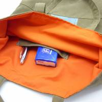 Einkaufstasche 'Zaunkönig', upcycelt, nachhaltig, 2 in 1, beidseitig nutzbar, Unikat von hessmade Bild 5