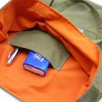 Einkaufstasche 'Zaunkönig', upcycelt, nachhaltig, 2 in 1, beidseitig nutzbar, Unikat von hessmade Bild 8