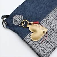 """Schlüssel-Anhänger """"goldenes Herz"""" * Taschen-Anhänger * Mitbringsel * Muttertag * Geschenkidee * Taschenbaumler  Bild 4"""