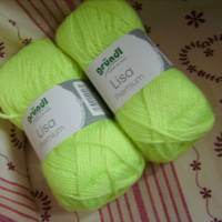 günstiges Strickgarn, Lisa premium Fb. 27, neon-gelb, Nadelstärke 3-4, Polyacryl,       Bild 1