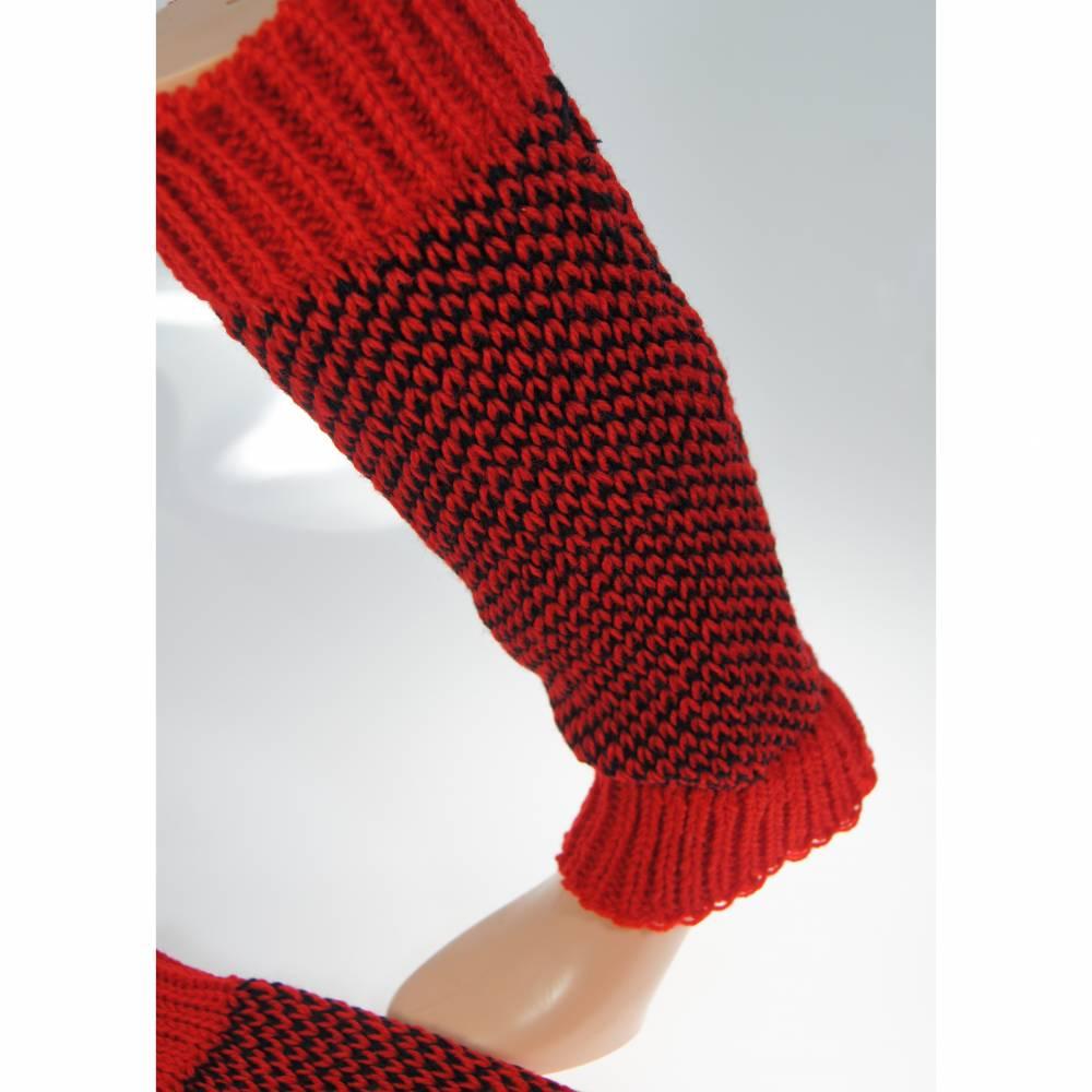 Beinstulpen/Wadenwärmer rot Bild 1