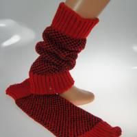 Beinstulpen/Wadenwärmer rot Bild 3