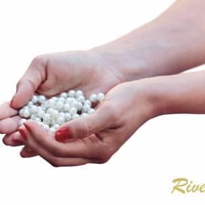 Brautarmband Perlen Armband, Silber Perlen, 925 Silber, Schmuckbeutel, Perlenschmuck, Hochzeit Armband, Brautaccessoire Bild 4