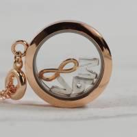 Medaillon Halskette mit initialen Buchstaben personalisiert für Damen Bild 1