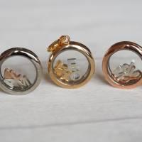 Medaillon Halskette mit initialen Buchstaben personalisiert für Damen Bild 2