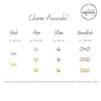 Medaillon Halskette mit initialen Buchstaben personalisiert für Damen Bild 3
