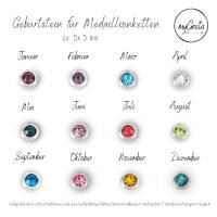 Medaillon Halskette mit initialen Buchstaben personalisiert für Damen Bild 4