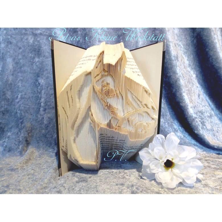 Pferdekopf - gefaltetes Buch Bild 1