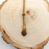 Makramee-Halskette mit Falkenauge - Kugel, Valentinstags-Geschenk Bild 10