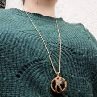 Makramee-Halskette mit Falkenauge - Kugel, Valentinstags-Geschenk Bild 9