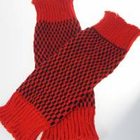 Beinstulpen/Wadenwärmer rot Bild 2