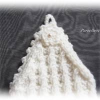 Handgestrickte Pulswärmer/Armstulpen mit Spitze für die Braut - Brautstulpen,Hochzeit,festlich,romantisch,wollweiß Bild 5