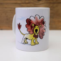 """""""Löwen-Tasse"""" Tasse mit niedlicher Tier-Illustration, Kaffeetasse Bild 1"""