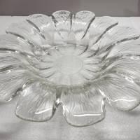 Vintage Glasschale aus den 70ern, Blütenform Bild 3